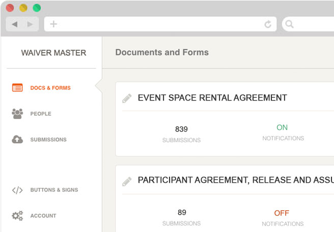 Waiver Master Venue And Event Rentals Agreements And